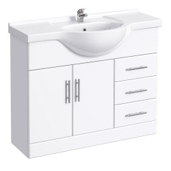 Classic Vanity Unit Cabinet with Basin 1050 mm